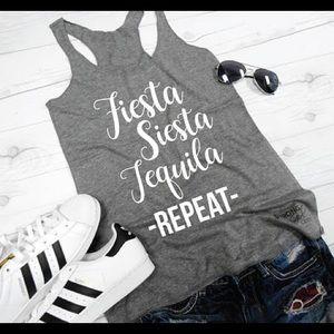 Fiesta Tequila Graphic Shirt Tank Top Bachelorette
